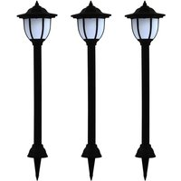 Outdoor Solar Lamps 3 pcs LED Black VD28663 - Hommoo