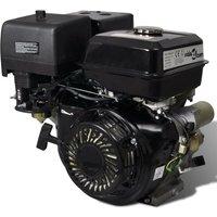 Petrol Engine 15 HP 9.6 kW Black - Hommoo