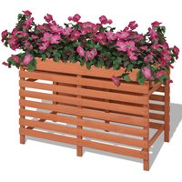 Planter 100x50x71 cm Wood VD26969 - Hommoo
