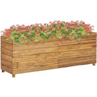 Planter 150x40x55 cm Recycled Teak and Steel VD45900 - Hommoo