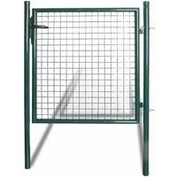Portail de clôture à porte simple Acier enduit de poudre HDV04254 - Hommoo