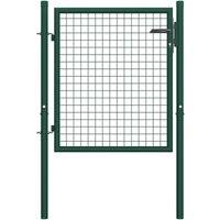Hommoo Portail de clôture Acier 100x75 cm Vert HDV06526