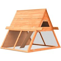 Rabbit Hutch Solid Pine and Fir Wood 152x128x108 cm VD07199 - Hommoo