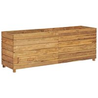 Raised Bed 150x40x55 cm Recycled Teak and Steel QAH45900 - Hommoo