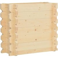 Raised Bed 42 mm 100x50x87.8 cm Solid Spruce Wood QAH47020 - Hommoo