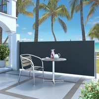 Retractable Side Awning 120 x 300 cm Black VD29509 - Hommoo