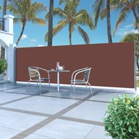 Retractable Side Awning 160 x 500 cm Brown VD29597 - Hommoo