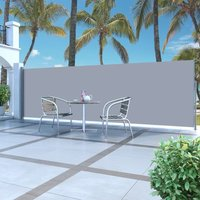 Retractable Side Awning 160 x 500 cm Grey VD29596 - Hommoo