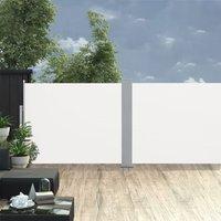 Retractable Side Awning Cream 170x1000 cm QAH46532 - Hommoo