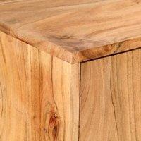 Sideboard 150x40x75 cm Solid Acacia Wood QAH47773 - Hommoo