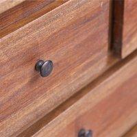 Sideboard 160x45x72 cm Solid Reclaimed Wood QAH36277 - Hommoo