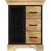 Hommoo Sideboard 60x30x75 cm Solid Mango Wood QAH13434