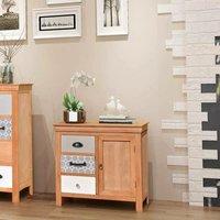 Hommoo Sideboard 65x35x60 cm Solid Wood Eucalyptus VD09661