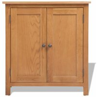 Sideboard 70x35x75 cm Solid Oak Wood QAH10173 - Hommoo