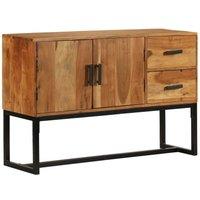 Sideboard Solid Acacia Wood 115x30x70 cm Brown VD12079 - Hommoo