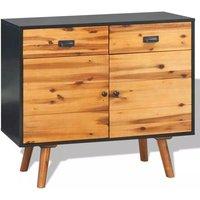 Sideboard Solid Acacia Wood 90x33.5x83 cm VD11469 - Hommoo