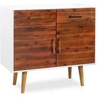 Sideboard Solid Acacia Wood 90x33.5x83 cm VD11690 - Hommoo