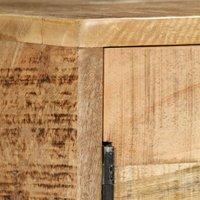 Hommoo Sideboard Solid Mango Wood 150x40x80 cm QAH11966
