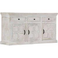 Hommoo Sideboard White 140x40x74 cm Solid Mango Wood VD14664