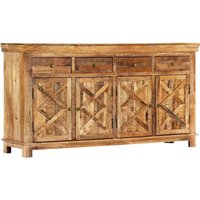 Sideboard with 4 Drawers 160x40x85 cm Solid Mango Wood - Hommoo