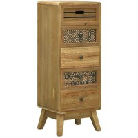 Sideboard with 5 Drawers Brown 37x30x97.5 cm Wood VD25928 - Hommoo