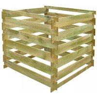Slatted Compost Bin 0.54 m3 Square FSC Wood VD26623 - Hommoo