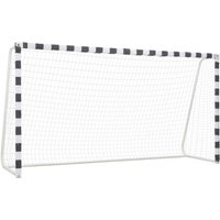 Hommoo Soccer Goal 300x160x90 cm Metal Black and White VD329