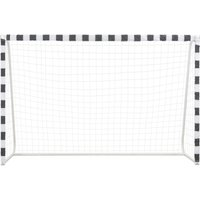 Soccer Goal 300x200x90 cm Metal Black and White QAH32903 -