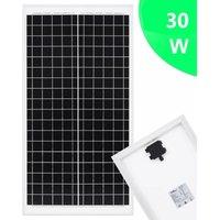 Solar Panel 30 W Polycrystalline Aluminium and Safety Glass QAH06495 - Hommoo