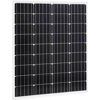 Solar Panel 80 W Monocrystalline Aluminium and Safety Glass VD06498 - Hommoo