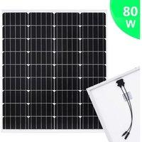 Solar Panel 80 W Monocrystalline Aluminium and Safety Glass QAH06498 - Hommoo