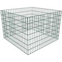 Square Mesh Garden Composter 100 x 100 x 70 cm VD03874 - Hommoo