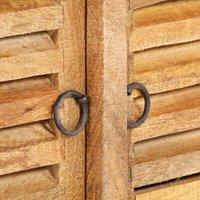 Storage Bench 128 cm Solid Mango Wood QAH36725 - Hommoo