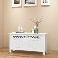 Storage Bench Baroque Style MDF White VD09355 - Hommoo
