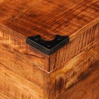 Storage Chest Cubic Rough Mango Wood QAH08874 - Hommoo