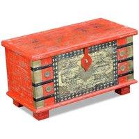 Storage Chest Red Mango Wood 80x40x45 cm VD09739 - Hommoo