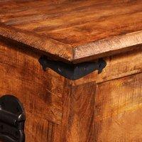 Hommoo Storage Chest Rough Mango Wood QAH08873