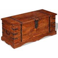 Storage Chest Solid Wood QAH10263 - Hommoo