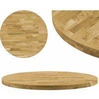 Hommoo Table Top Solid Oak Wood Round 44 mm 600 mm VD11937