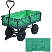 Telo per Carrello da Giardino in Tessuto Verde VD31187 - Hommoo