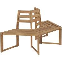 Tree Bench Half-hexagonal 160 cm Solid Acacia Wood QAH28458 - Hommoo