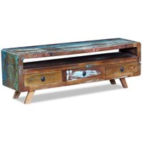 TV Cabinet with 3 Drawers Solid Reclaimed Wood VD09715 - Hommoo
