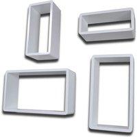 Wall Cube Shelves 8 pcs White QAH18860 - Hommoo