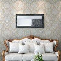 Wall Mirror Baroque Style 120x60 cm Black QAH09978 - Hommoo