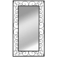 Hommoo Wall Mirror Rectangular 60x110 cm Black VD11865