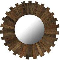 Wall Mirror Solid Reclaimed Sleeper Wood 70 cm VD12245 - Hommoo