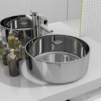 Wash Basin 40x15 cm Ceramic Silver VD05412 - Hommoo