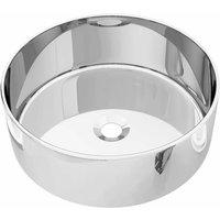 Wash Basin 40x15 cm Ceramic Silver QAH05412 - Hommoo