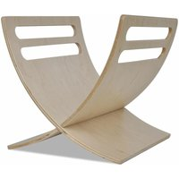 Hommoo Wooden Magazine Rack Floor Standing Natural QAH08619