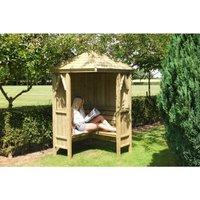 Shire - Honeysuckle Corner Arbour Garden Arch Seat Approx 4 x 4 Feet